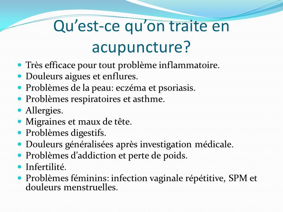 Qu'est-ce qu'on traite en acupuncture