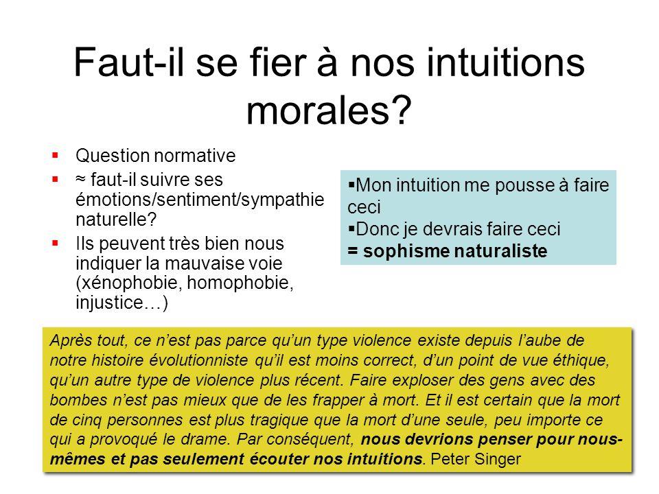 Faut-il se fier à nos intuitions morales
