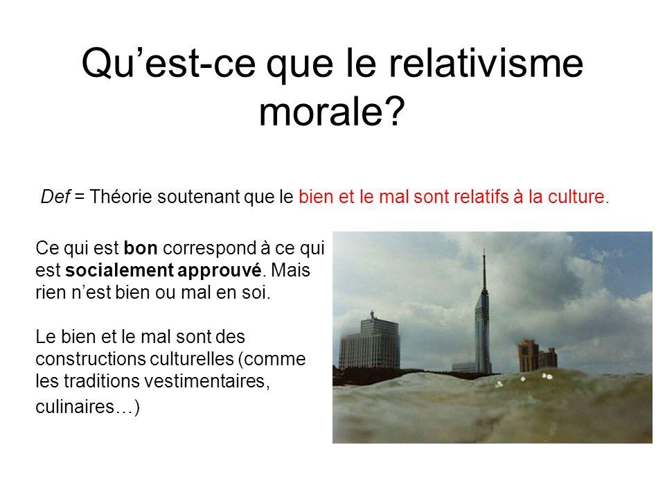 Qu'est-ce que le relativisme morale