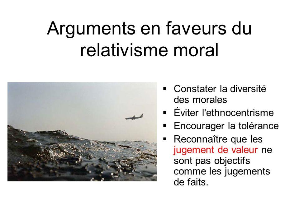 Arguments en faveurs du relativisme moral