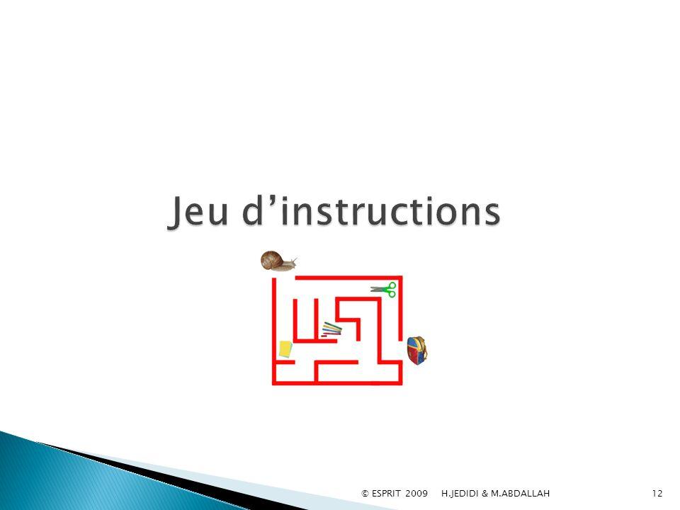 Jeu d'instructions © ESPRIT 2009 H.JEDIDI & M.ABDALLAH