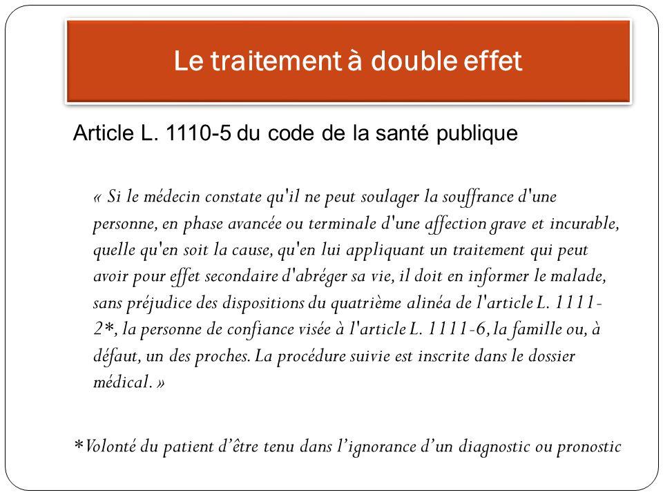 Le traitement à double effet