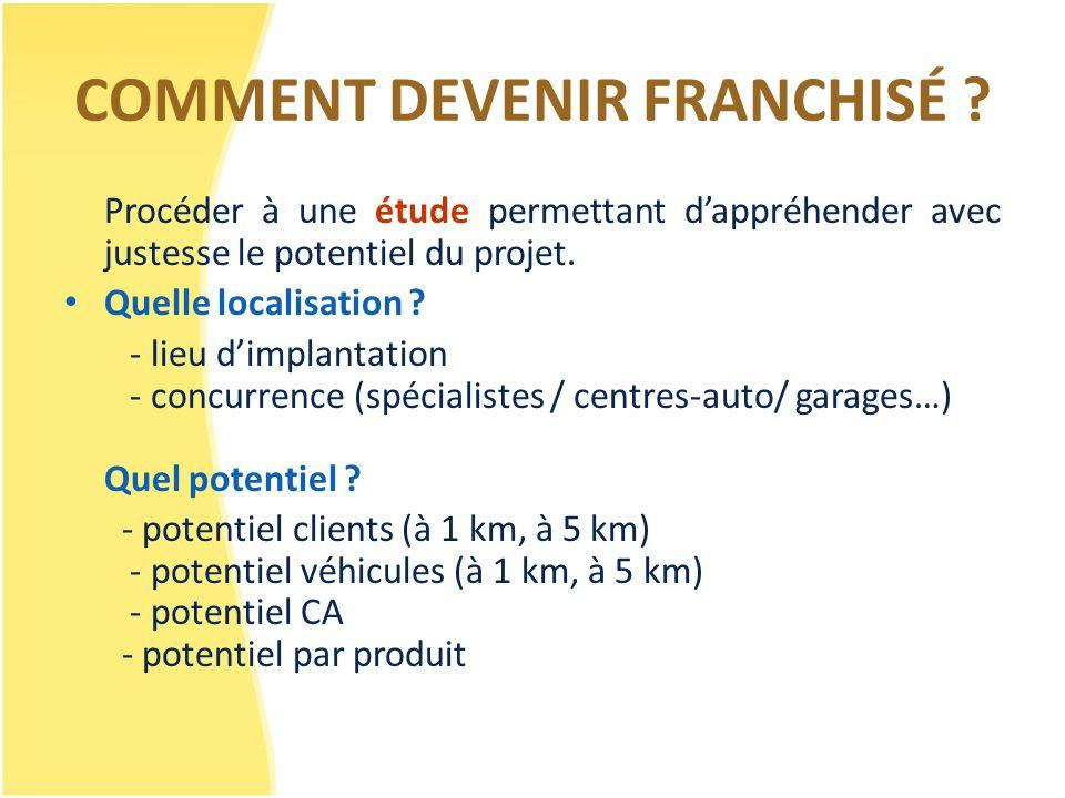 COMMENT DEVENIR FRANCHISÉ