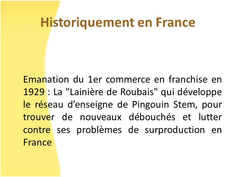 Historiquement en France