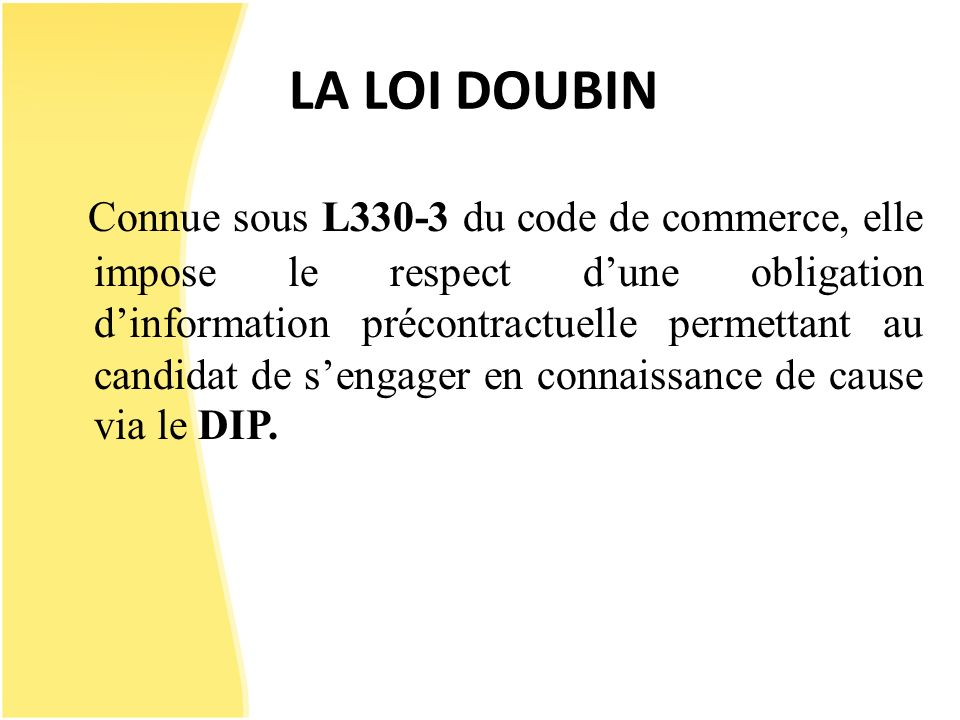 LA LOI DOUBIN
