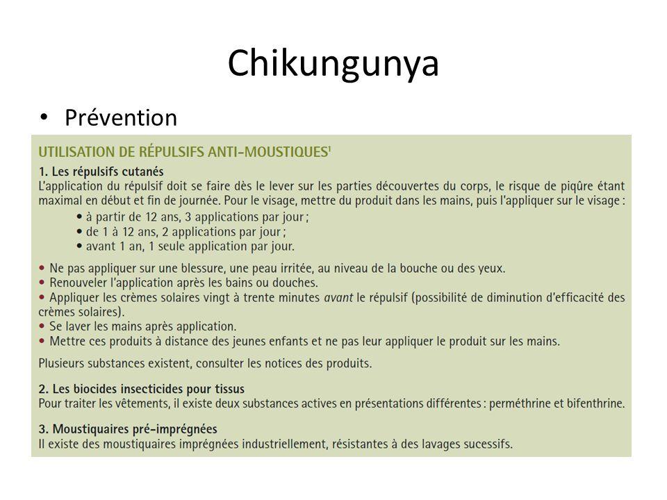Chikungunya Prévention