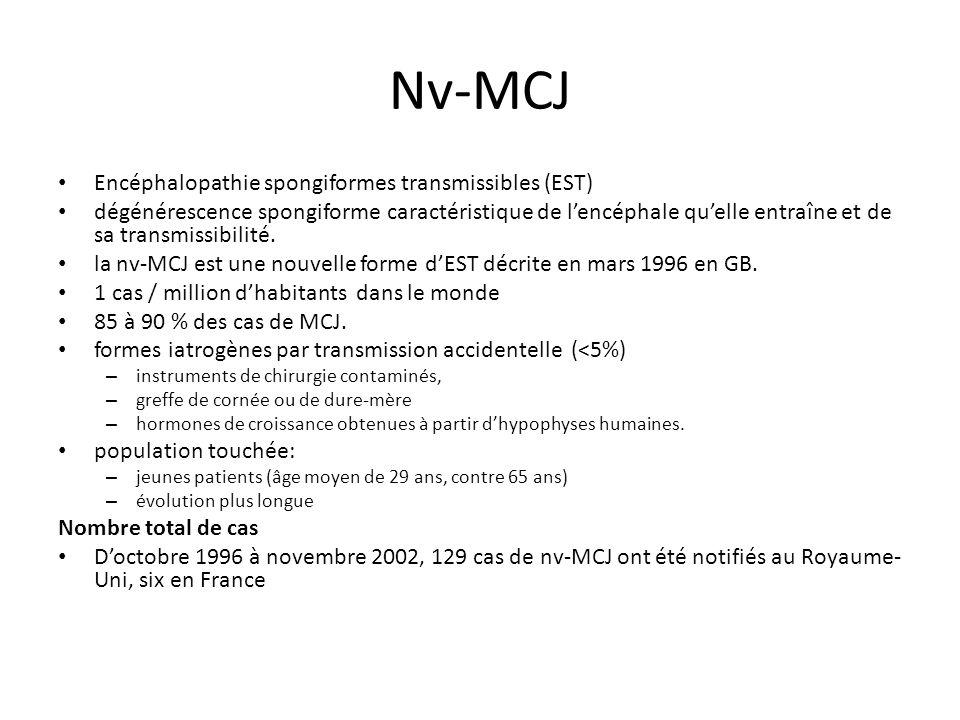 Nv-MCJ Encéphalopathie spongiformes transmissibles (EST)