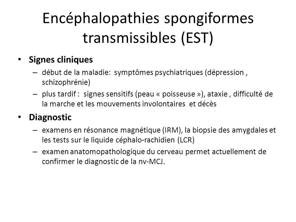 Encéphalopathies spongiformes transmissibles (EST)