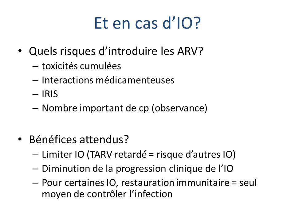 Et en cas d'IO Quels risques d'introduire les ARV
