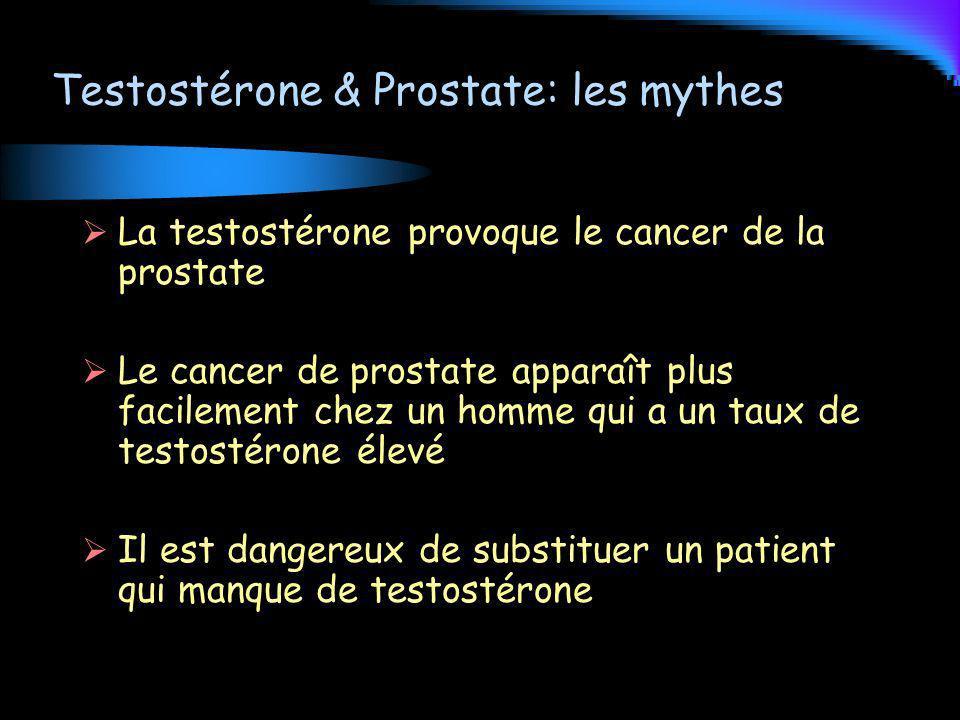 Testostérone & Prostate: les mythes