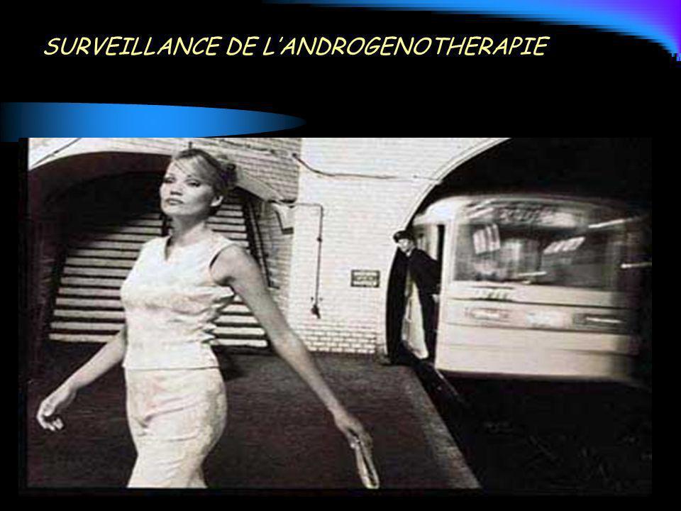 SURVEILLANCE DE L'ANDROGENOTHERAPIE