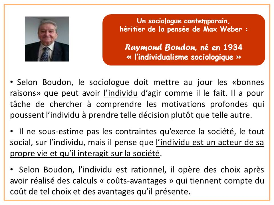 Un sociologue contemporain,