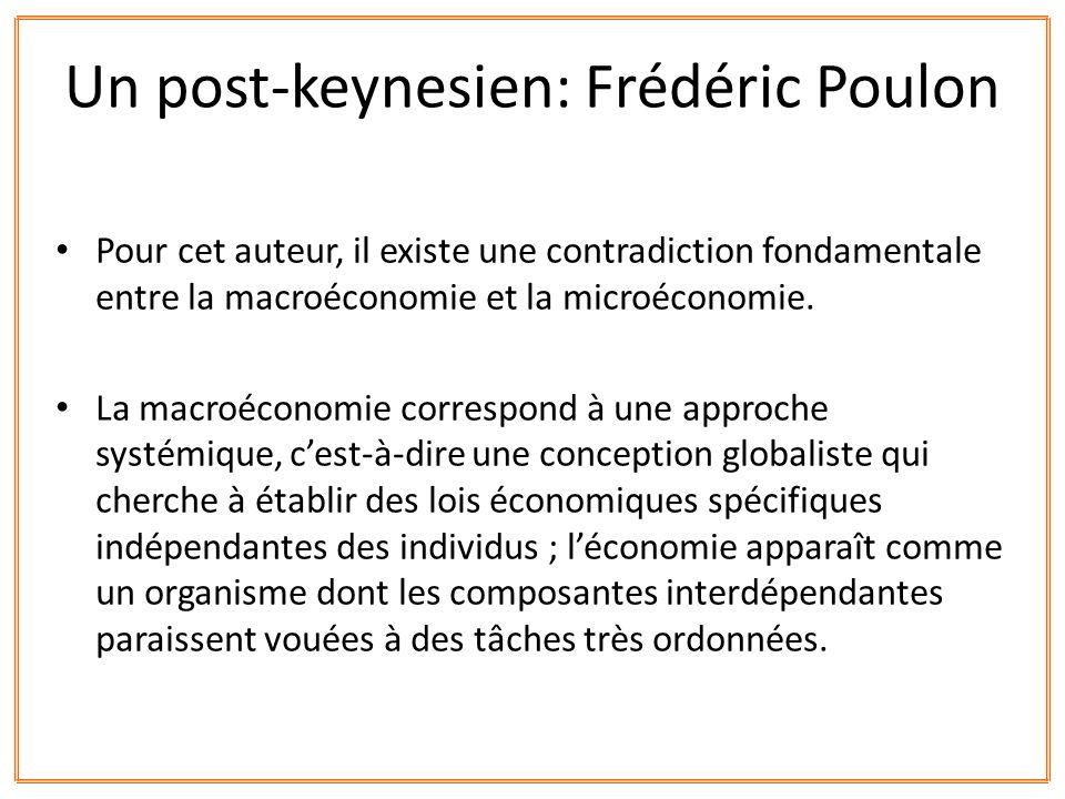 Un post-keynesien: Frédéric Poulon