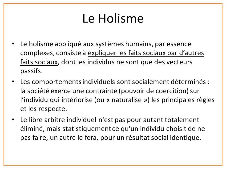 Le Holisme