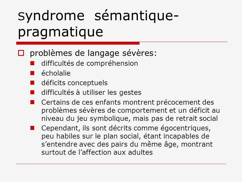 Syndrome sémantique-pragmatique