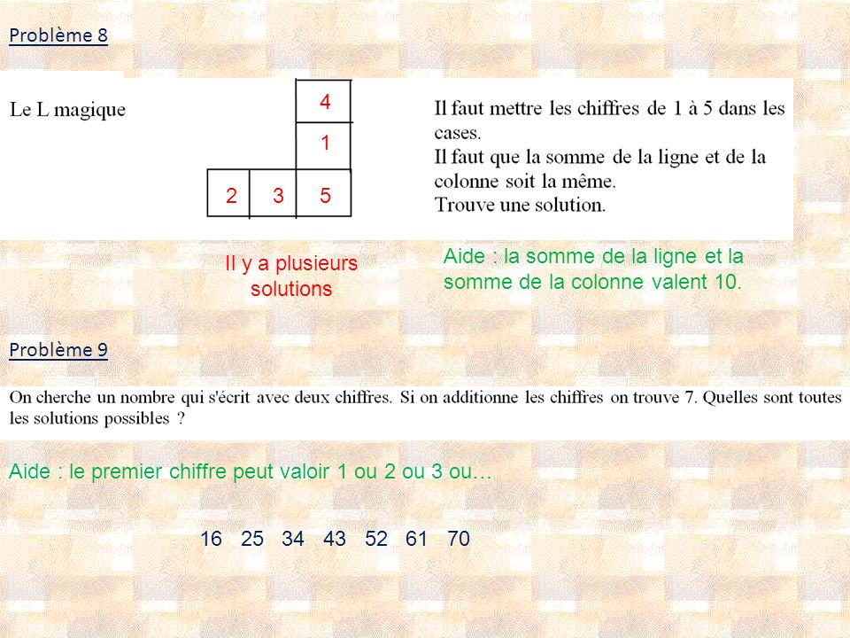 Il y a plusieurs solutions