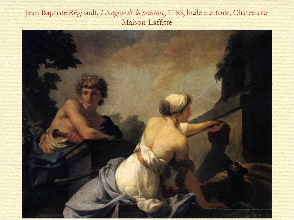 Jean Baptiste Régnault, L'origine de la peinture, 1785, huile sur toile, Château de Maison-Laffitte