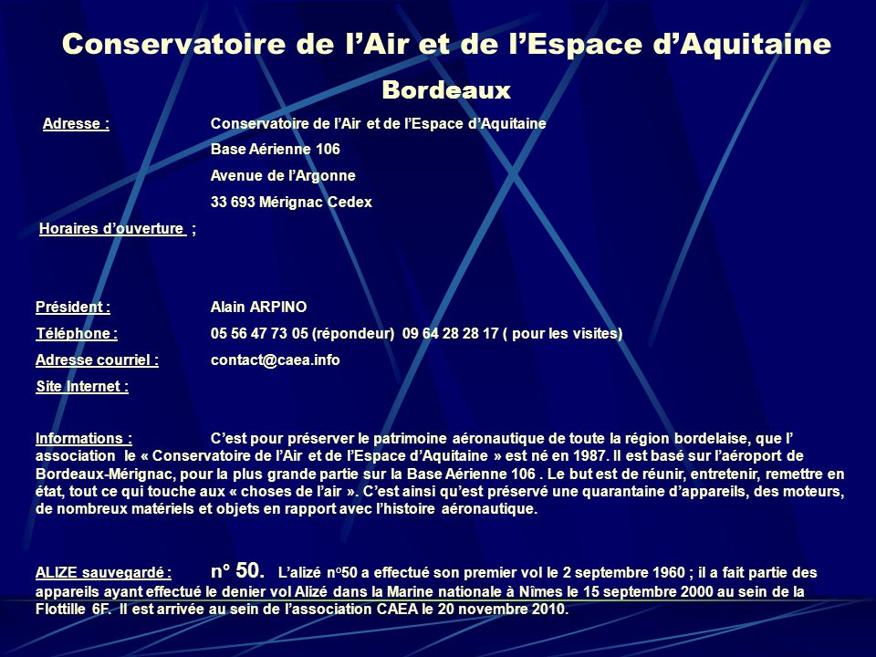 Conservatoire de l'Air et de l'Espace d'Aquitaine