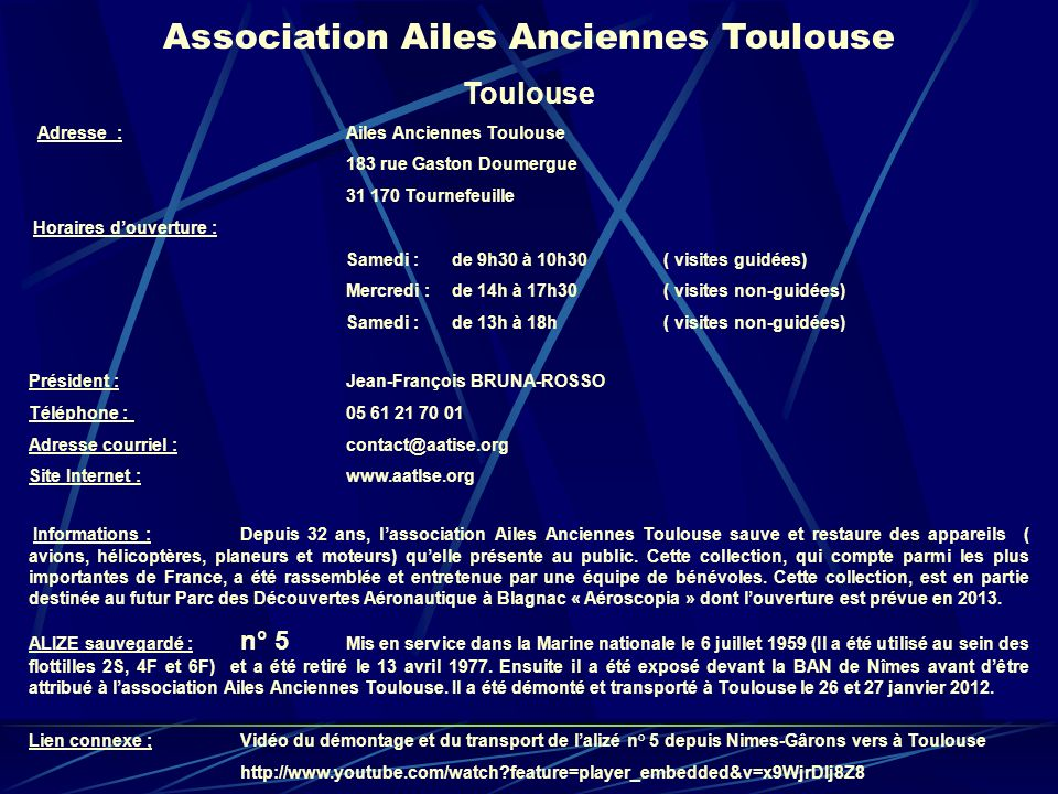 Association Ailes Anciennes Toulouse
