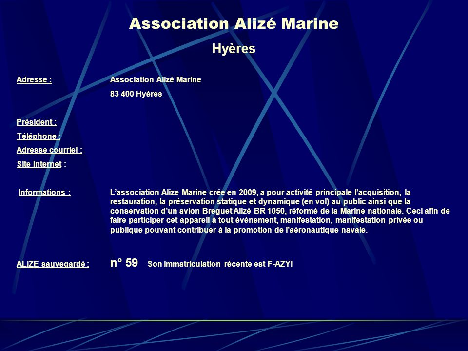 Association Alizé Marine