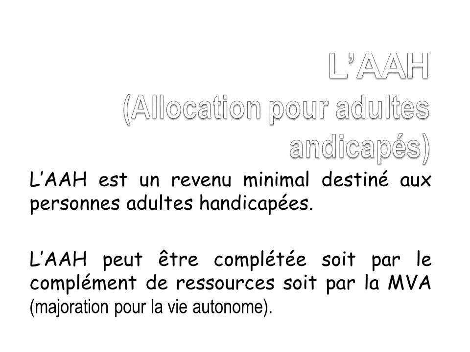 L'AAH (Allocation pour adultes andicapés)