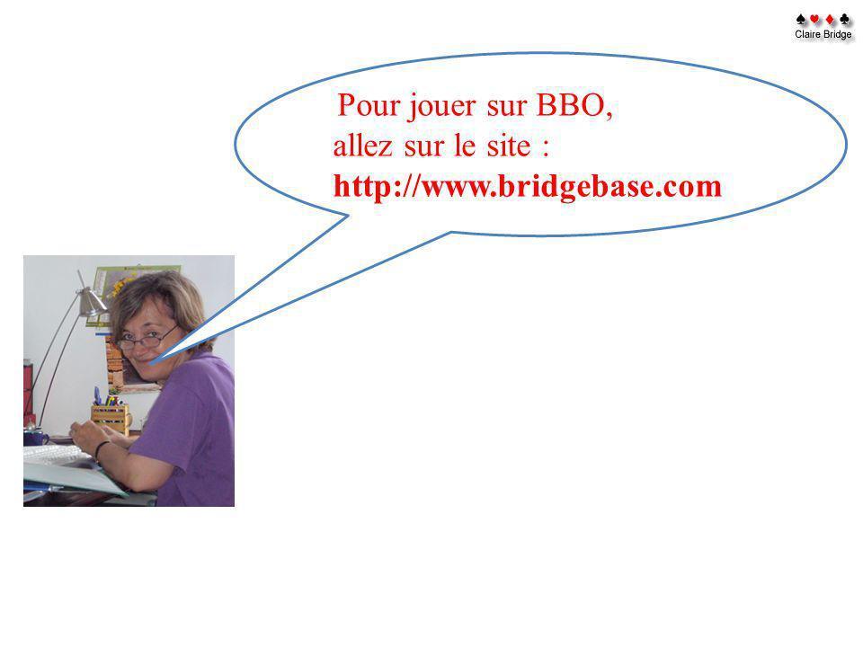 Pour jouer sur BBO, allez sur le site : http://www.bridgebase.com
