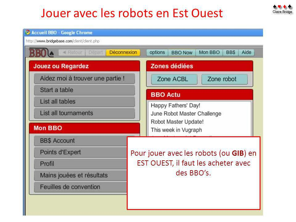 Jouer avec les robots en Est Ouest