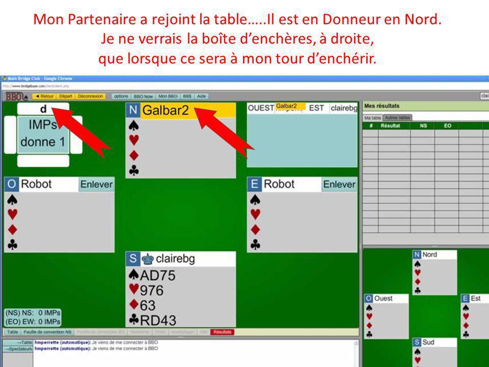 Mon Partenaire a rejoint la table…..Il est en Donneur en Nord.