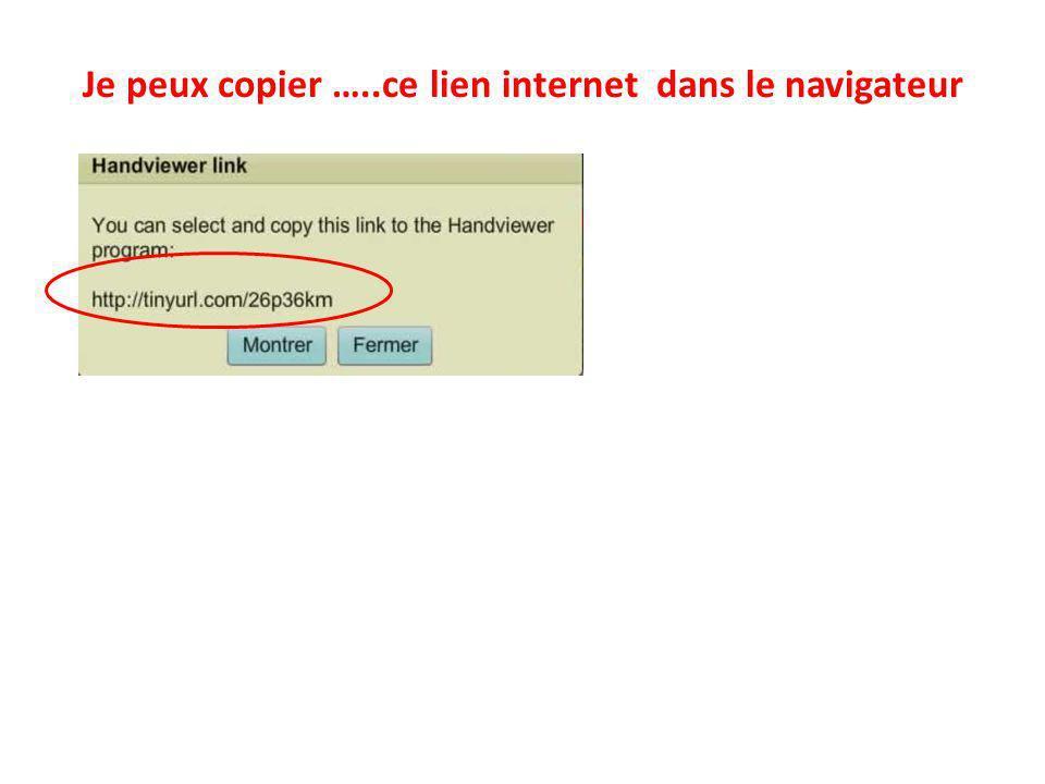 Je peux copier …..ce lien internet dans le navigateur