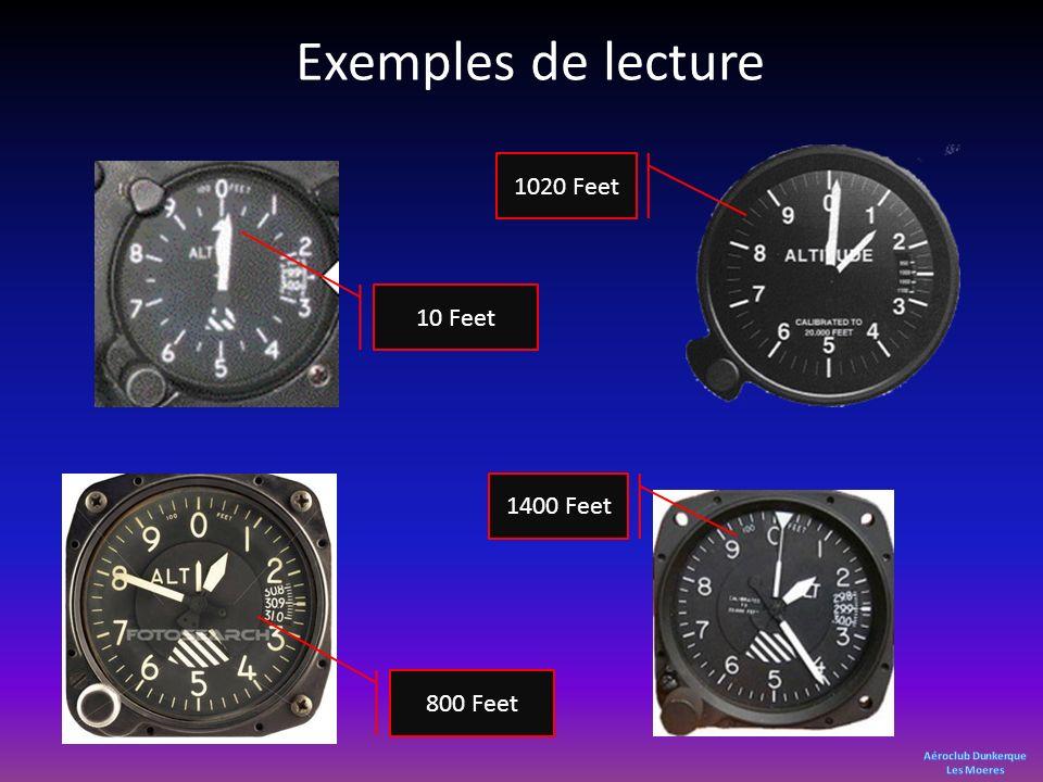 Exemples de lecture 1020 Feet 10 Feet 1400 Feet 800 Feet