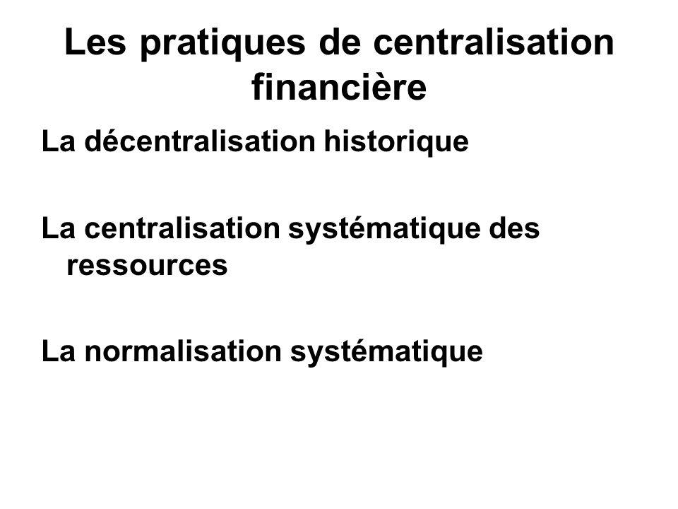 Les pratiques de centralisation financière
