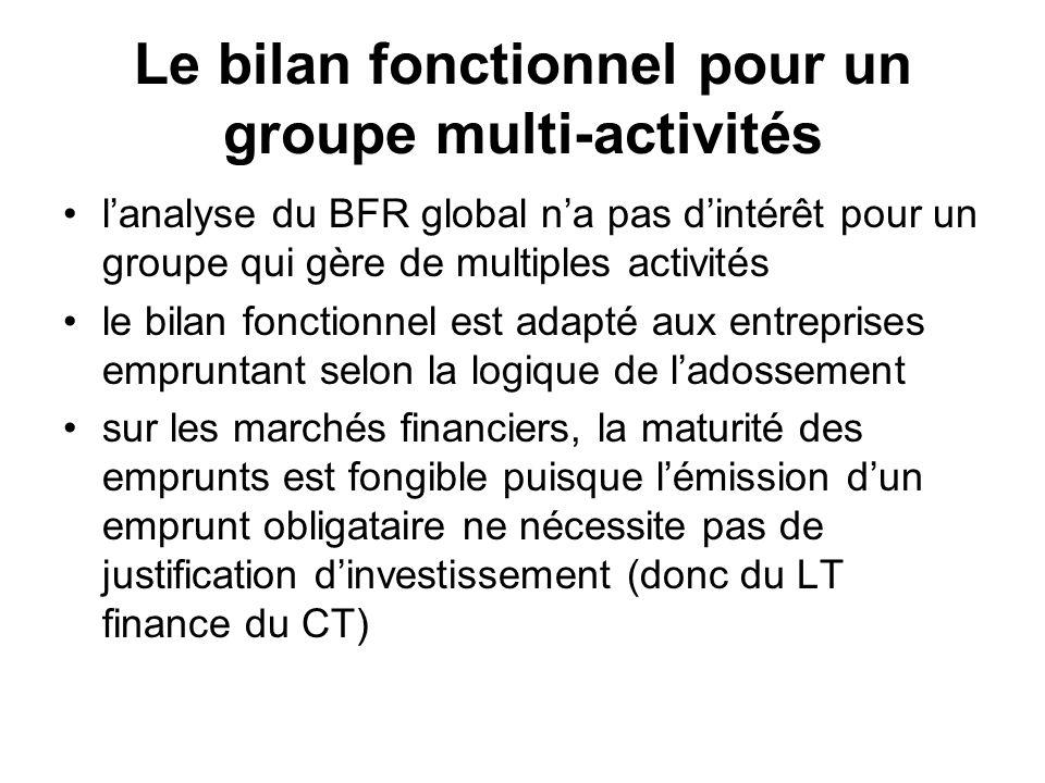 Le bilan fonctionnel pour un groupe multi-activités