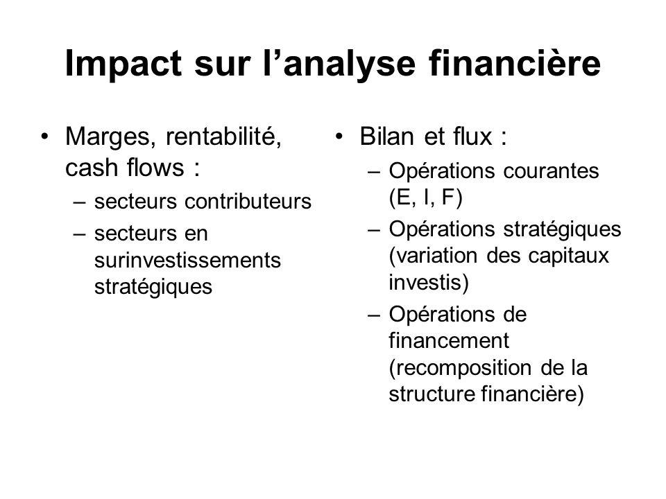 Impact sur l'analyse financière