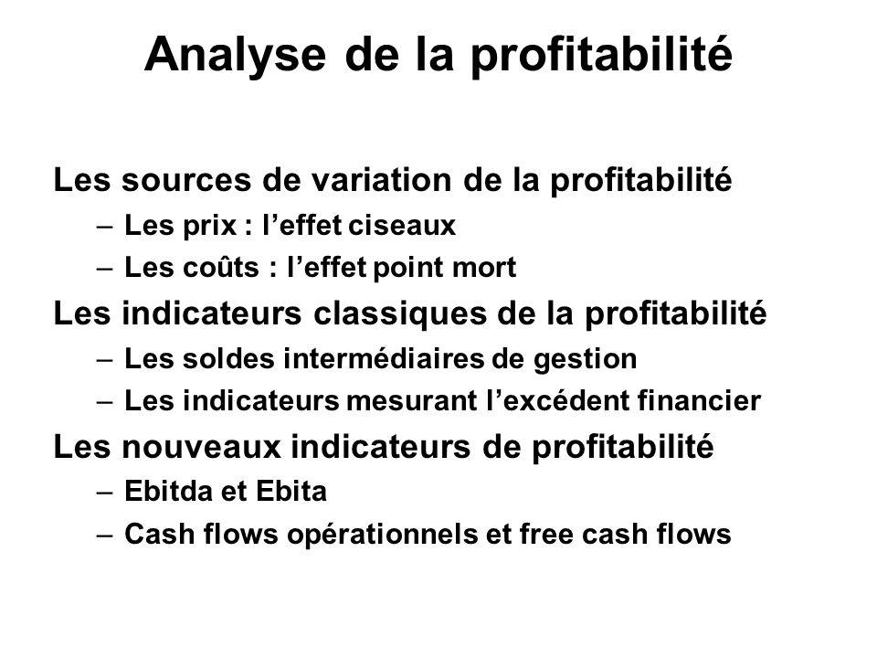 Analyse de la profitabilité