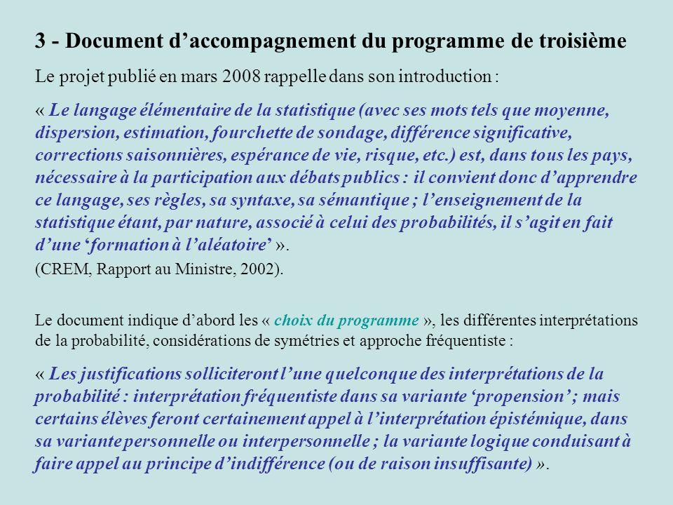 3 - Document d'accompagnement du programme de troisième
