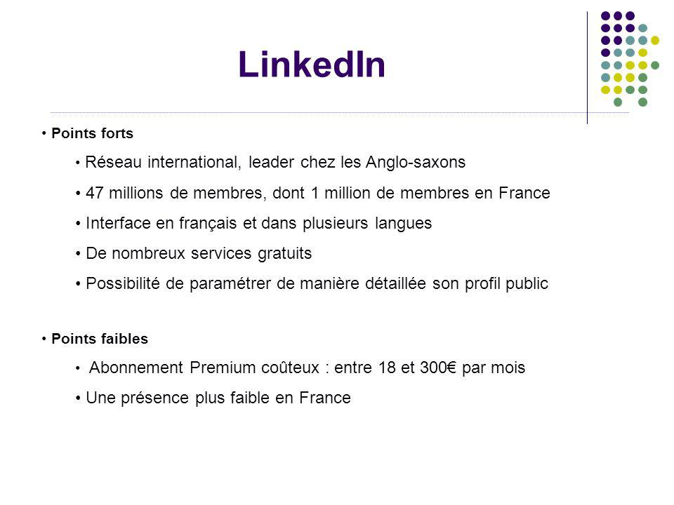 LinkedIn 47 millions de membres, dont 1 million de membres en France
