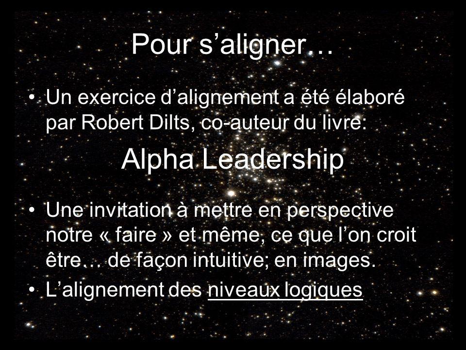 Pour s'aligner… Alpha Leadership