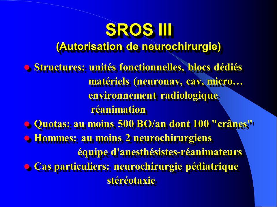 SROS III (Autorisation de neurochirurgie)