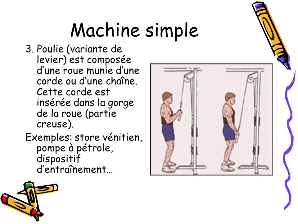 Machine simple