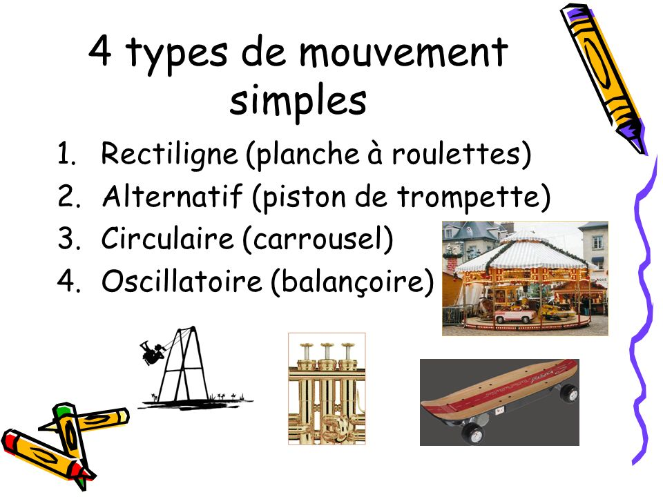 4 types de mouvement simples