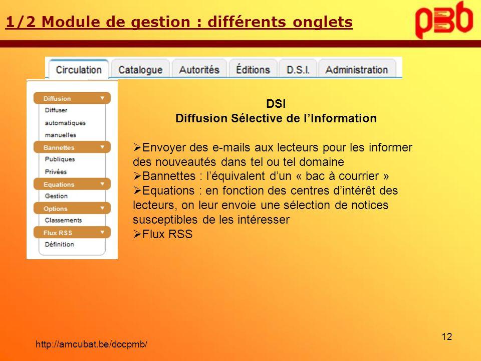 Diffusion Sélective de l'Information