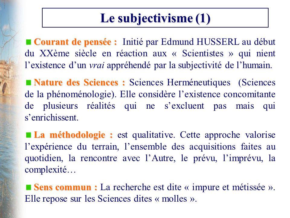 Le subjectivisme (1)