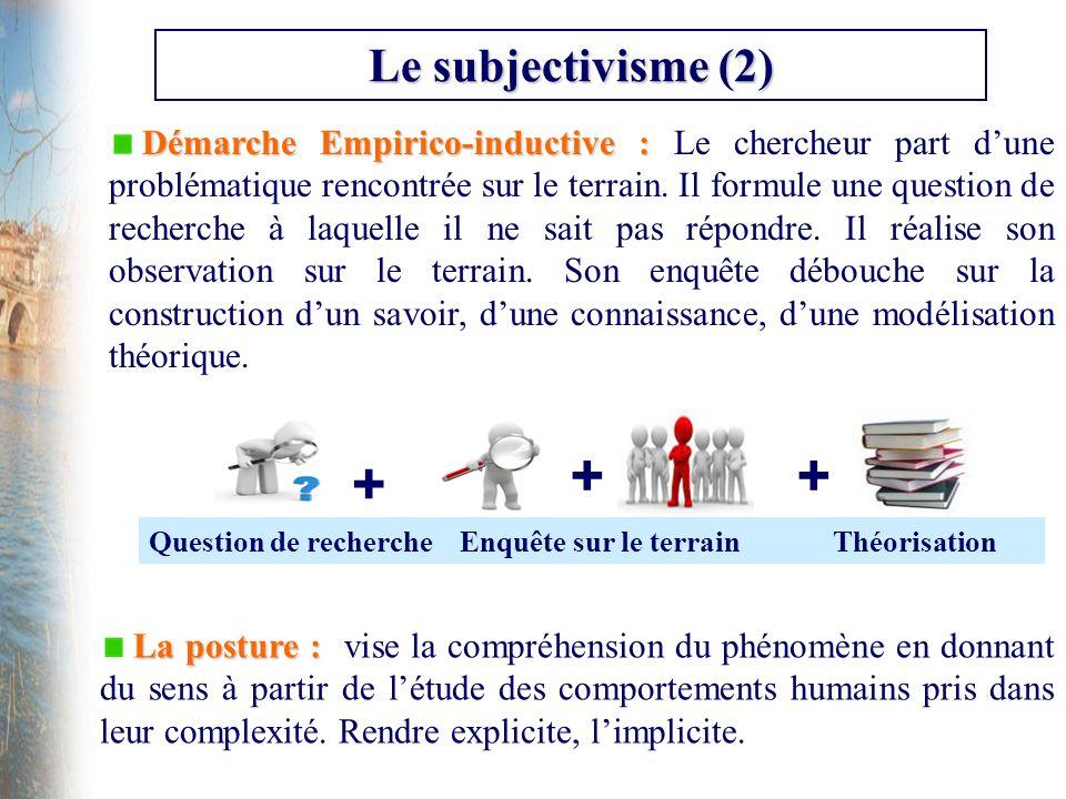 Le subjectivisme (2)