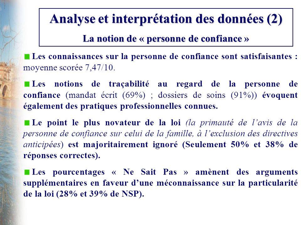 Analyse et interprétation des données (2)