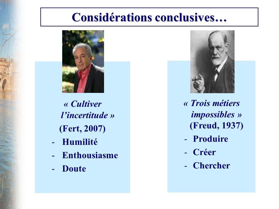 Considérations conclusives…