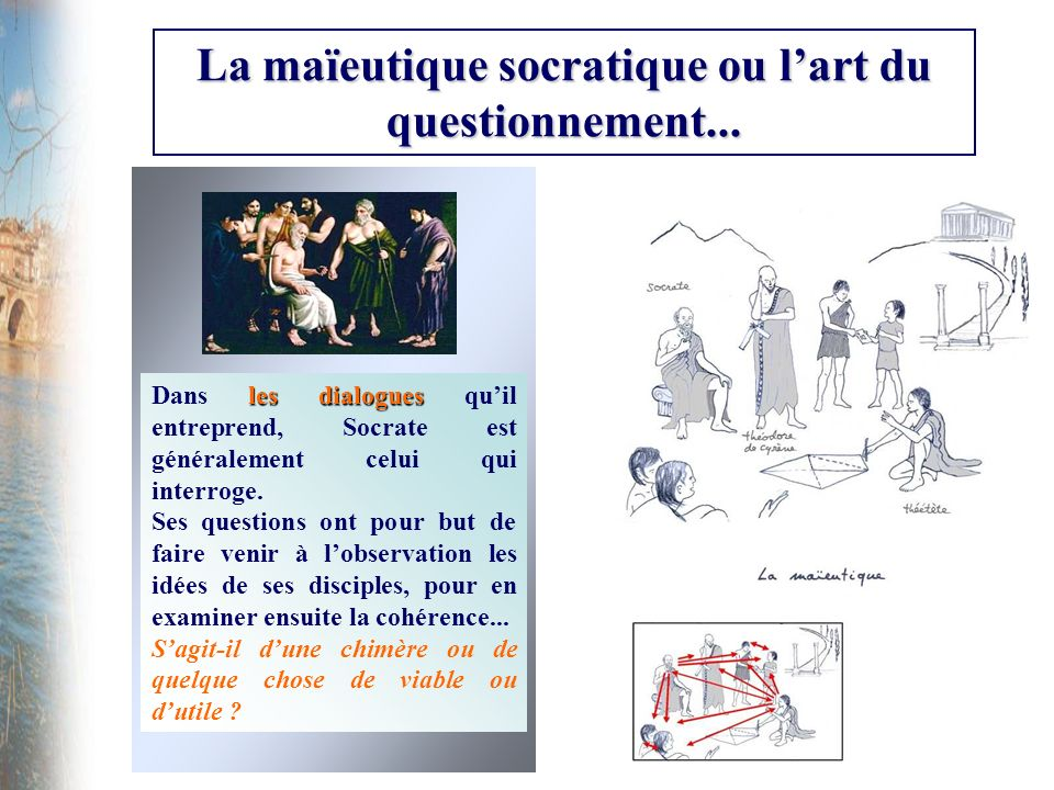 La maïeutique socratique ou l'art du questionnement...