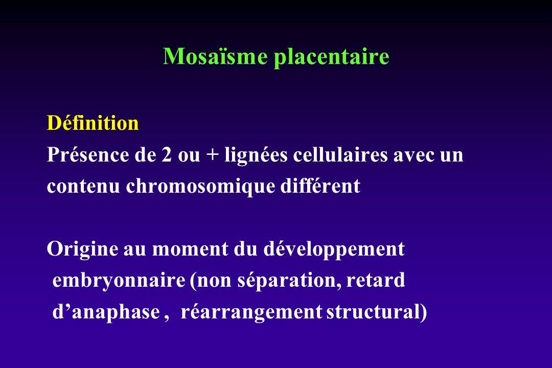 Mosaïsme placentaire Définition