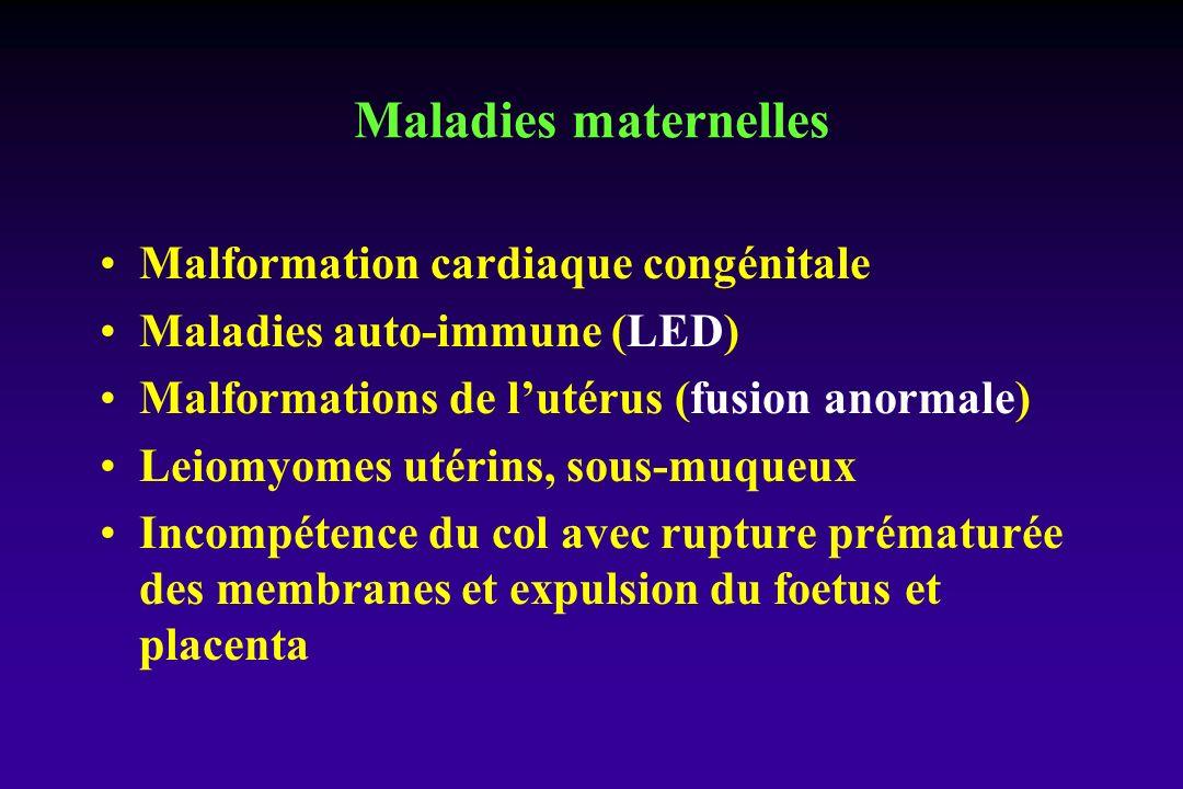 Maladies maternelles Malformation cardiaque congénitale