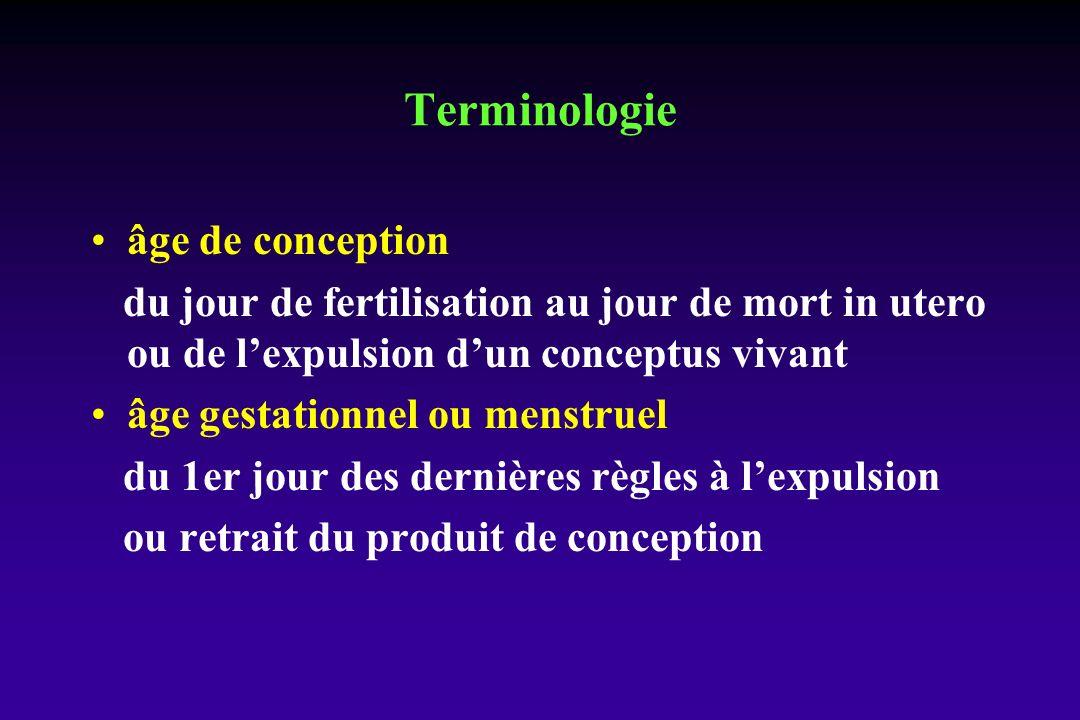 Terminologie âge de conception