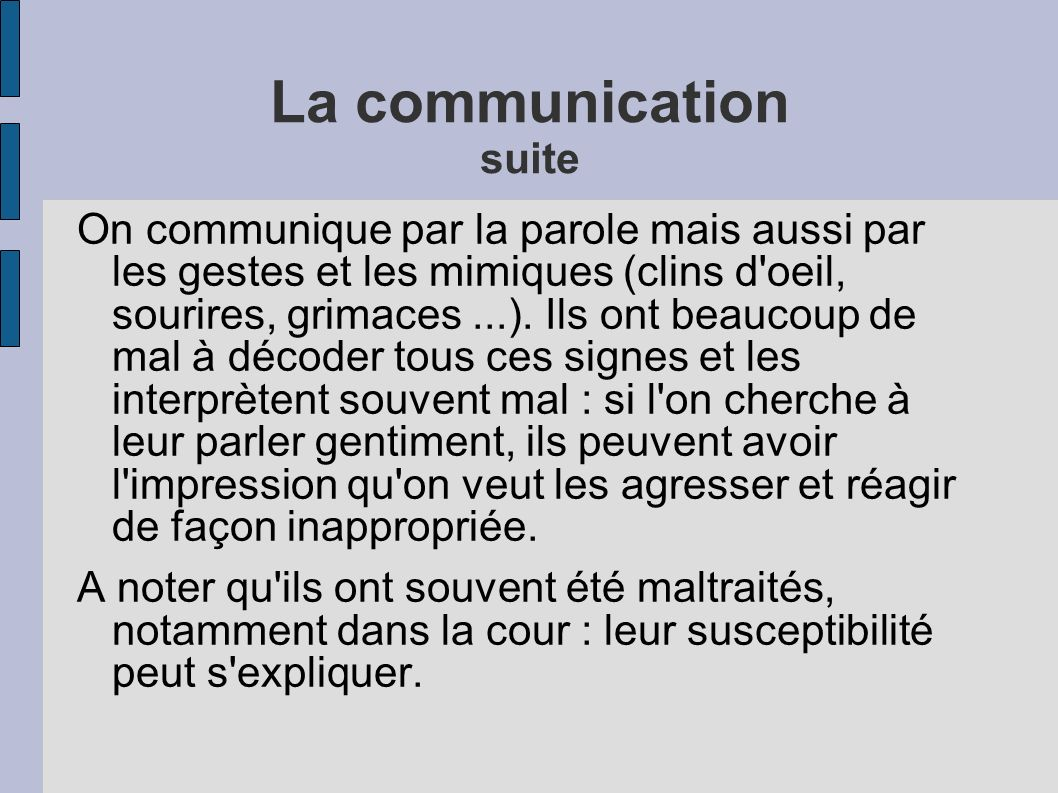 La communication suite